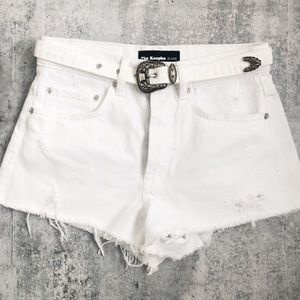 New The Kooples Western Belted Cut Off Shorts